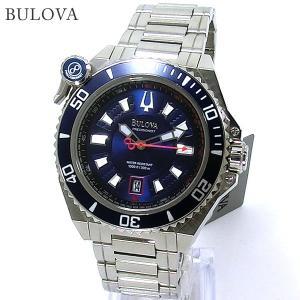 ブローバ BULOVA メンズ 腕時計 98B168 ACCUTRON 300m防水 ネイビー ステンレス 【アウトレット展示品】|pre-ma