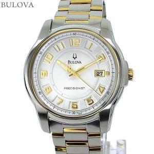 ブローバ BULOVA メンズ 腕時計 98B140 PRECISIONIST クォーツ ステンレス コンビカラー 【アウトレット】|pre-ma