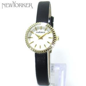 ニューヨーカー NEWYORKER 腕時計 レディース NY010.03 ブラックレザー ゴールド 【アウトレット】|pre-ma