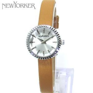ニューヨーカー NEWYORKER 腕時計 レディース NY010.07 ブラウンレザー シルバー 【アウトレット】|pre-ma