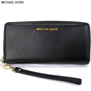 マイケルコース MICHAEL KORS 長財布 ラウンドファスナー 32F6GBFE4L 001 ブラック 126305【アウトレット】|pre-ma