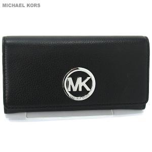 マイケルコース MICHAEL KORS 長財布 二つ折り 32F2SFTE3L 001 ブラック/シルバー  【アウトレット】 pre-ma