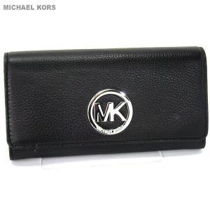 【アウトレット-B9】マイケルコース MICHAEL KORS 長財布 二つ折り 32F2SFTE3L 001 ブラック/シルバー|pre-ma
