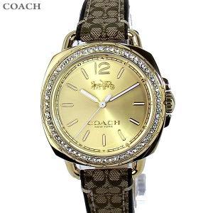 コーチ COACH  レディース腕時計 テイタム 14502770 ゴールド マホガニ レザー【アウトレット展示品】|pre-ma