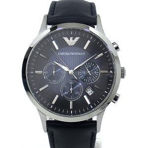 エンポリオ アルマーニ  メンズ 腕時計 AR2473  クロノグラフ EMPORIO ARMANI  ネイビー レザー 新品|pre-ma