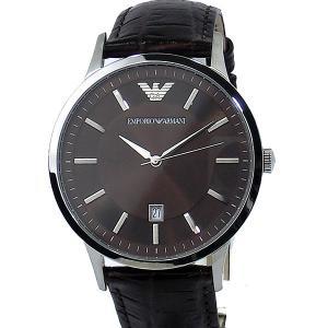 エンポリオ アルマーニ  メンズ 腕時計 AR2413  クォーツ EMPORIO ARMANI  ブラウン レザー 新品|pre-ma