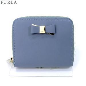 FURLA フルラ 財布 二つ折り ラウンド  ASIA S ZIP / 903453 PR92 100 TE8  TEMPEST ブルーグレー 新品|pre-ma