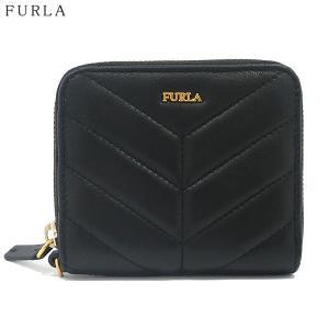 FURLA フルラ 財布 二つ折り ラウンドジップ  MAGIA S ZIP  / 993355 PAZ2 2Q0 O60 ONYX ブラック|pre-ma