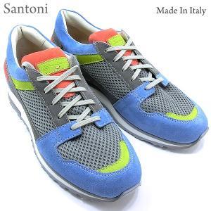 Santoni サントーニ スニーカー SA13763 グレー/マルチカラー メンズ 決算セール|pre-ma