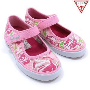 GUESS ゲス ベビーシューズ/靴 幼児・女の子用 66601 ピンク フローラル アウトレットセール|pre-ma