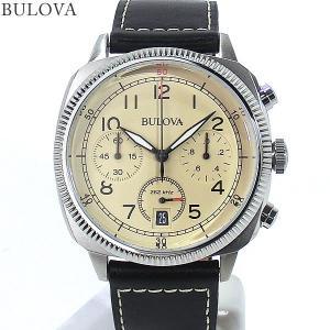 ブローバ BULOVA メンズ 腕時計 96B231  MILITARY UHF クロノグラフ クォーツ レザー  【新品アウトレット】|pre-ma