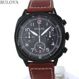 ブローバ BULOVA メンズ 腕時計 98B245  MILITARY UHF クロノグラフ クォーツ レザー  【新品アウトレット】|pre-ma