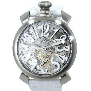 【アウトレット特価】ガガミラノ GaGa MILANO 腕時計 5310.01S MANUALE 48MM スケルトン シルバー|pre-ma