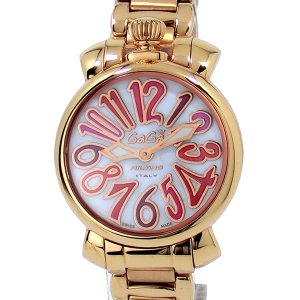 ガガミラノ レディース 腕時計 6021.3 GaGa MILANO MANUALE 18K PVD ピンクゴールド  SWISS MADE 【展示品】 決算セール|pre-ma