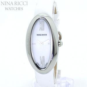 ニナリッチ NINA RICCI  腕時計 レディース N052001SM シルバー/ホワイトレザー スイス製 限定1点|pre-ma