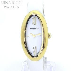 ニナリッチ NINA RICCI  腕時計 レディース N052003SM イエローゴールド/ホワイトレザー スイス製 限定1点 pre-ma