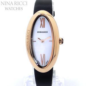 ニナリッチ NINA RICCI  腕時計 レディース N052006SM ローズゴールド/ブラックレザー スイス製 限定1点 pre-ma