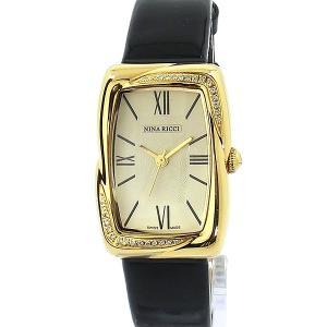 ニナリッチ NINA RICCI  腕時計 レディース N032.52.12.84  スイス製 ダイアモンド アクセンテッド ゴールド 展示品アウトレット|pre-ma