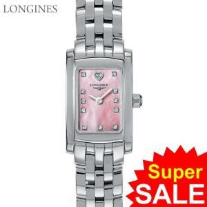 LONGINES ロンジン 腕時計 レディース  L5.158.4.93.6  ドルチェヴィータ スクエア ピンクシェル ダイヤモンド【アウトレット特価】|pre-ma