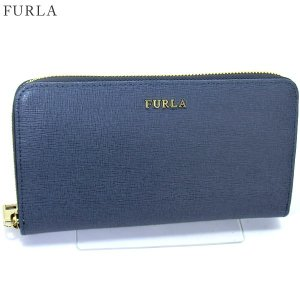 FURLA フルラ 長財布 ラウンドファスナー BABYLON XL / 851527 PR70 B30 DOLOMIA ダークブルー|pre-ma