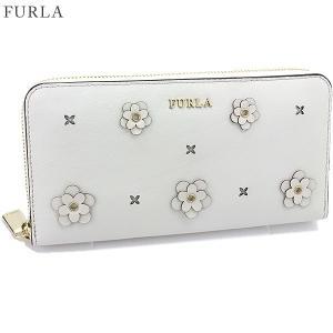 【アウトレット特価】 FURLA フルラ 長財布 ラウンドファスナー BABYRON XL / 870840 PS20 ND1 PET PETALO ホワイト|pre-ma