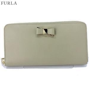 FURLA フルラ 長財布 ラウンドファスナー ASIA XL / 903445 PR91 100 CT6 CRETA クリームベージュ 決算セール|pre-ma