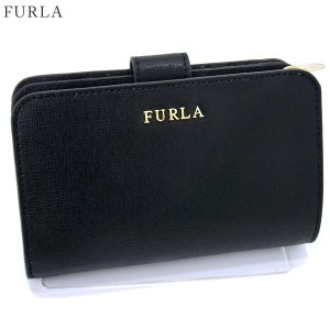 【アウトレット訳あり】FURLA フルラ 二つ折り 財布 ショート  BABYLON M / 872836 PR85 B30 O60  ONYX ブラック|pre-ma