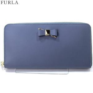 FURLA フルラ 長財布 ラウンドファスナー ASIA XL / 903447 PR91 100 TE8  TEMPESTA ブルーグレー系|pre-ma