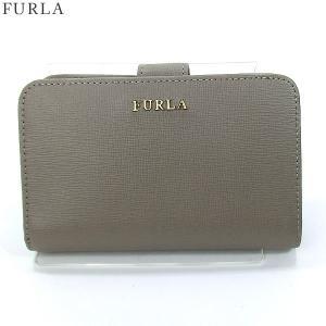 FURLA フルラ 財布 二つ折り ショート  BABYLON M / 856542 PN12 B30 SBB  SABBIA グレー【アウトレット-F31】|pre-ma