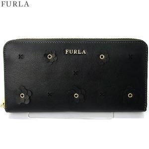 【アウトレット特価-G02】 FURLA フルラ 長財布 ラウンドファスナー BABYRON XL / 870839 PS20 ND1 O60  ONYX ブラック|pre-ma