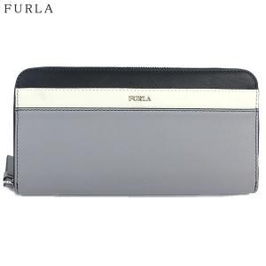 【アウトレット-K02】FURLA フルラ 長財布 ラウンドファスナー REALE XL / 985355 PAJ9 VWO KJN  ONICE グレー|pre-ma