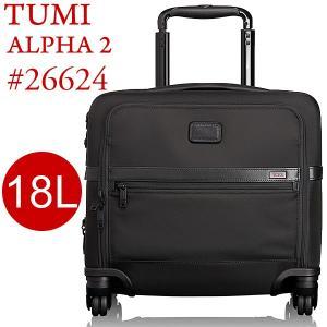 TUMI トゥミ  キャリーケース/コンパクトブリーフ 機内持ち込み可 ALPHA2 26624 D2 ブラック 18L 4輪|pre-ma