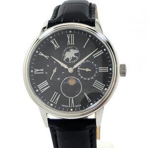 ハンティングワールド メンズ 腕時計 HWM010BK ムーンフェイズ クォーツ 40mm ブラック 正規品|pre-ma