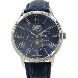 ハンティングワールド メンズ 腕時計 HWM010BL ムーンフェイズ クォーツ 40mm ブルー 正規品|pre-ma
