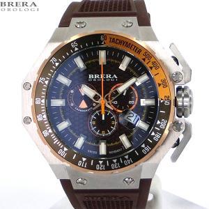 ブレラ オロロジ BRERA OROLOGI メンズ 腕時計 クロノグラフ BRGTC5402 GRAN TURISMO ブラウン【アウトレット展示品】|pre-ma