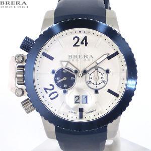 ブレラ オロロジ BRERA OROLOGI メンズ 腕時計 クロノグラフ MILITARE BRML2C4801 ネイビー/ホワイト【アウトレット展示品】|pre-ma