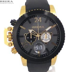 ブレラ オロロジ BRERA OROLOGI メンズ 腕時計 クロノグラフ MILITARE BRML2C4802 ブラック/ゴールド【アウトレット展示品】|pre-ma