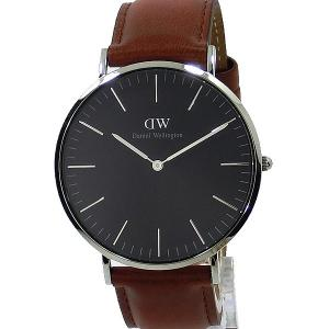 ダニエルウェリントン 腕時計 40mm DW00100130 Classic Black St.Mawes Silver Daniel Wellington【アウトレット】|pre-ma