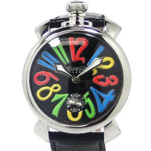ガガミラノ GaGa MILANO メンズ 腕時計 5010.02S MANUALE 48MM 手巻き式 SWISS MADE ブラック【新品アウトレット】|pre-ma