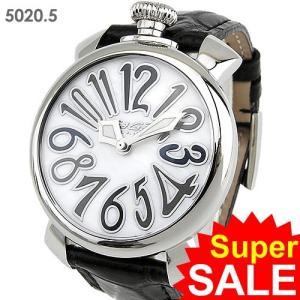 ガガミラノ GaGa MILANO 腕時計 5020.5 MANUALE 40MM ブラックレザー 決算セール|pre-ma
