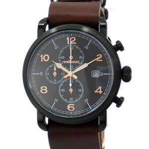 ニューヨーカー NEWYORKER 腕時計 クロノグラフ NY007.03  ブラック/ブラウン メンズ  レザー 【アウトレット訳あり】|pre-ma