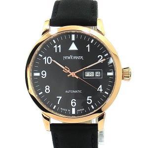 ニューヨーカー NEWYORKER 腕時計 自動巻き DD-BEATS  NY002.13 メンズ  PG/BK レザー 【アウトレット訳あり】|pre-ma