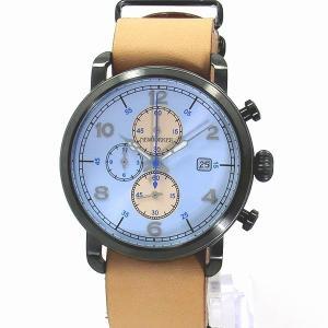 ニューヨーカー NEWYORKER 腕時計 クロノグラフ NY007.05N  ブルー/ライトブラウン メンズ  レザー 【アウトレット訳あり】|pre-ma
