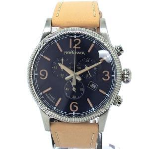 ニューヨーカー NEWYORKER 腕時計 coinedge  NY008.05N クロノグラフ メンズ  ネイビー/ライトブラウン レザー 【アウトレット訳あり】|pre-ma