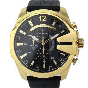 ディーゼル DIESEL メガチーフ DZ4344 メンズ腕時計 クロノグラフ ゴールド/ブラック 新品|pre-ma