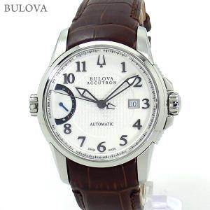ブローバ BULOVA 腕時計 63B160 自動巻 キャリブレーター 歩度調整機能 40mm レザー 新品特価セール|pre-ma