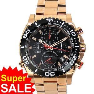 BULOVA ブローバ 腕時計 メンズ 98B213 プレシジョニスト クロノグラフ ローズゴールド|pre-ma