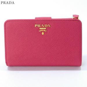 PRADA プラダ 財布 二つ折り L字ファスナー 1ML225 QWA F0505 PEONIA ピンク【新品アウトレット】 pre-ma
