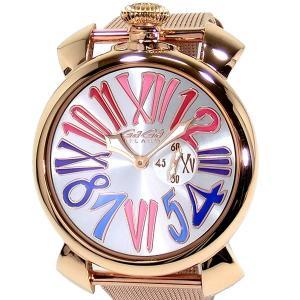ガガミラノ GaGa MILANO 腕時計 5081.1  SLIM スリム 46mm ピンクゴールド メンズ メッシュメタル|pre-ma