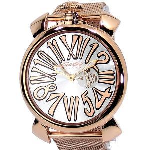 ガガミラノ GaGa MILANO 腕時計 5081.2  SLIM スリム 46mm ピンクゴールド メンズ メッシュメタル|pre-ma